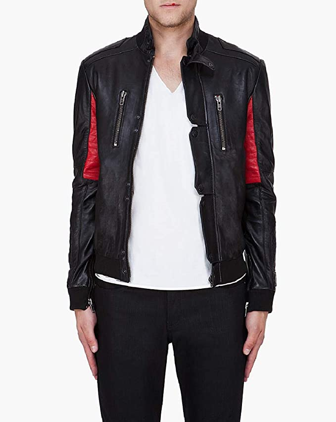 f032d2807a6 Amazon.com: LeatherJacket4 Champ Kid Cudi Surface to Air Replica ...