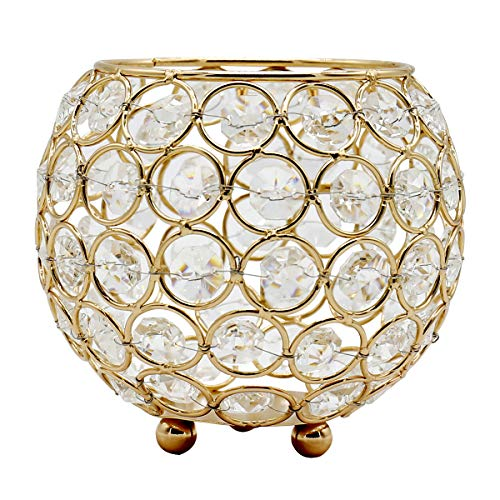 Joynest Crystal Tea Light Candle Lantern Holders, Wedding Coffee Table Decorative Centerpieces for Home Décor Party Mothers Day Birthday House Gifts (4.8