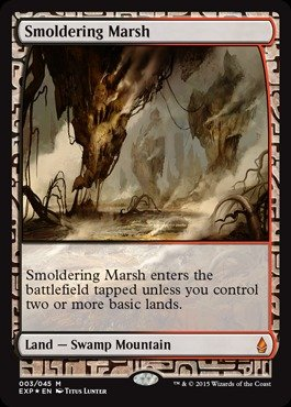 Magic: the Gathering - Smoldering Marsh - Expedition Lands - Foil