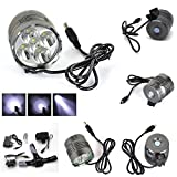 Best GrandSiri Rechargable Bike Lights - 1 Set Deluxe 3 Switch Mode 8000Lm 5x Review