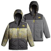 The North Face Boys Reversible True Or False Jacket - TNF Medium Grey Heather/TNF Black - M