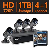 LaView 4 HD 720P Security Camera System, 4 Channel HD-TVI Analog CCTV Video DVR System w/ 1TB HDD & 4 Bullet 720P Cameras