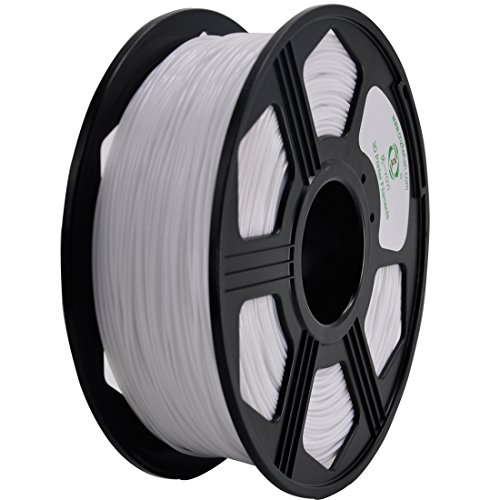 YOYI PETG 3D Printer Filament 1.75mm, Diameter Tolerance +/- 0.03 mm, 1 KG Spool, 1.75 mm PETG filament for 3D printer (white)