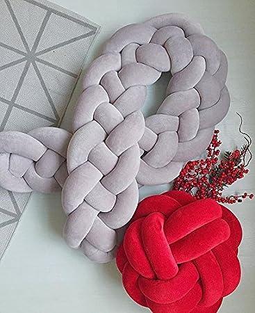 Lit b/éb/é pare-chocs Triple /épaisseur tresses Large de protection Serpent Taie doreiller D/écoration de la Maison 99,1/cm 149,9/cm 200,7/cm
