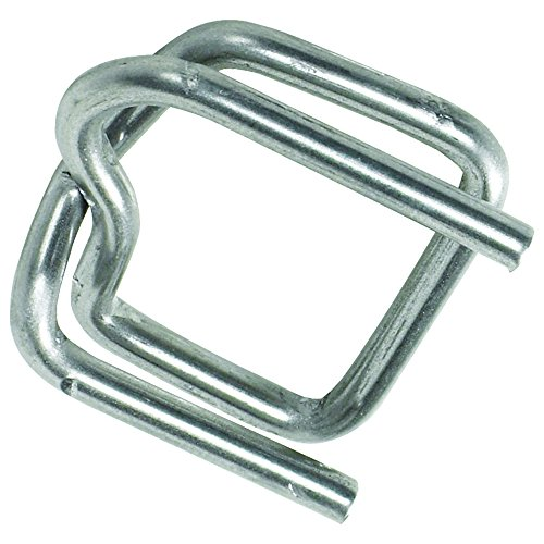 BOX USA BPS12HDBUCK Heavy-Duty Wire Poly Strapping Buckles, 1/2', Silver (Pack of -