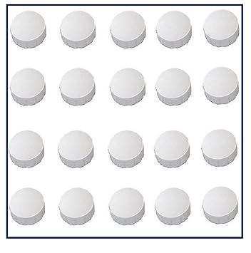50 Magnete Weiß Ø 24 mm Pinnwand Magnet Büro Kühlschrank Whiteboard Tafel