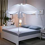 Are There Beds Bigger Than King Size WENZHANG Yurt netting curtains,Full bottom round fly screen Keeps away insects & flies cribs mosquito net canopy for beds Perfect for indoors and outdoors,Playgrounds,Fits most size beds-White Queen2