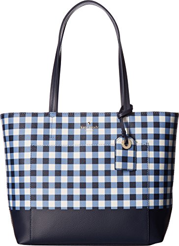 Riley Tote (Kate Spade New York Women's Hyde Lane Gingham Riley Tote, Navy/White, One Size)