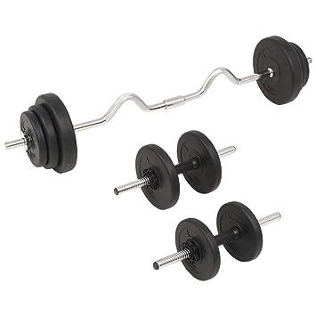 Xingshuoonline - Juego de Mancuernas y Mancuernas (30 kg, Gimnasio, Fitness, Deportes, Entrenamiento de Peso en el hogar): Amazon.es: Deportes y aire libre