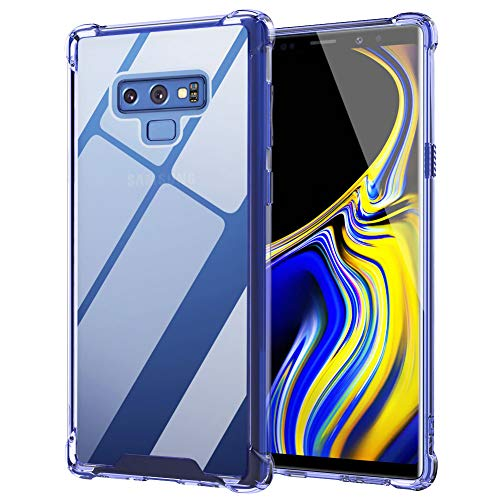 Ztotop Case for Samsung Galaxy Note 9, Hybrid Protective Clear Case Anti-Scratch Shockproof Rugged Hard Back Cover with Soft TPU Bumper Cushion for Samsung Galaxy Note 9