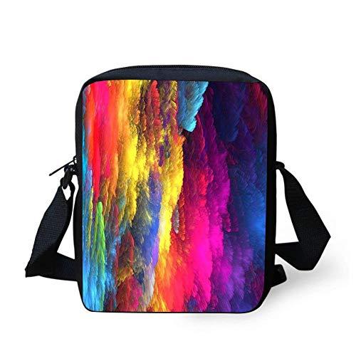 WEKJNskeee Colorful Inkjet Women Custom Crossbody Messenger Bag Shoulder Tote Sling Postman Bags One ()