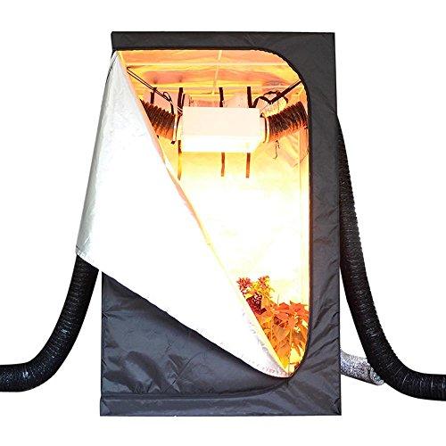 "51J4yuKIE3L - LAGarden 48x48x78"" Hydroponics Grow Tent 100% Reflective Diamond Mylar Indoor Plant Growing Non Toxic Room w/ Window"