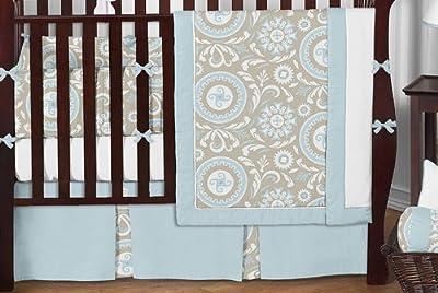 Hayden 9 Piece Neutral Crib Bedding Set from Sweet Jojo Designs