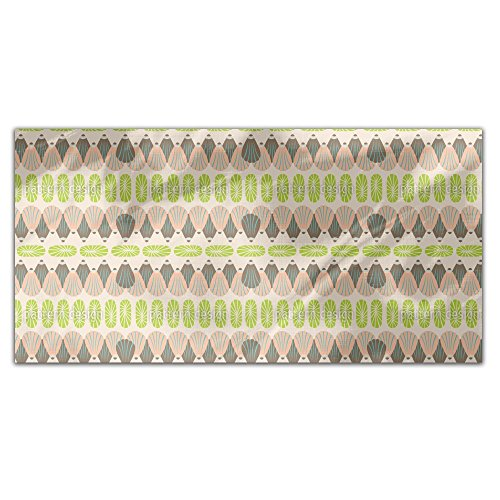 Shell Decor Rectangle Tablecloth: Medium Dining Room Kitchen Woven Polyester Custom Print by uneekee