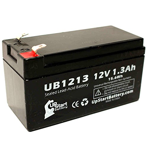 Impact Medical 700 UNIVENT EAGLE VENTILATOR Battery - Replacement UB1213 Universal Sealed Lead Acid Battery (12V, 1.3Ah, 1300mAh, F1 Terminal, AGM, SLA) - Includes TWO F1 to F2 Terminal Adapters