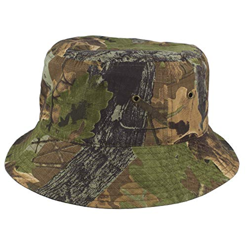 Gelante 100% Cotton Packable Fishing Hunting Sunmmer Travel Bucket Cap Hat 1900-Hunter Camo-S/M]()