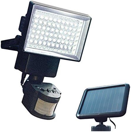 15x20x14 cm Color Negro 60 LED GardenKraft 23450 23450-Luz Solar con Sensor de Movimiento