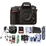 Nikon 810 Digital SLR Camera, 36.3MP - Bundle with Camera Bag, 64GB SDXC Card, Spare Battery, Wired Remote Shutter Trigger, Cleaning Kit, Software Package, Memory Wallet, and More