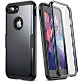 Wireless : YOUMAKER Case for iPhone 8 Plus & iPhone 7 Plus, Full Body Rugged with Built-in Screen Protector Heavy Duty Protection Slim Fit Shockproof Cover for Apple iPhone 8 Plus (2017) 5.5 Inch - Black