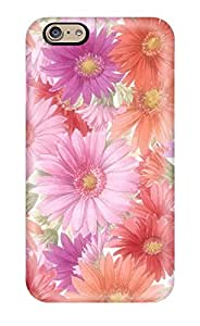 Durable Defender Case For Iphone 6 Tpu Cover(earth Flower)