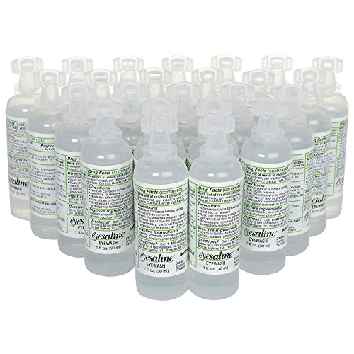 Honeywell Personal 1 oz. (30 ml) Sterile Saline Eye Wash Bottles, Trilingual (24-Pack) by North Eye & Face Protection