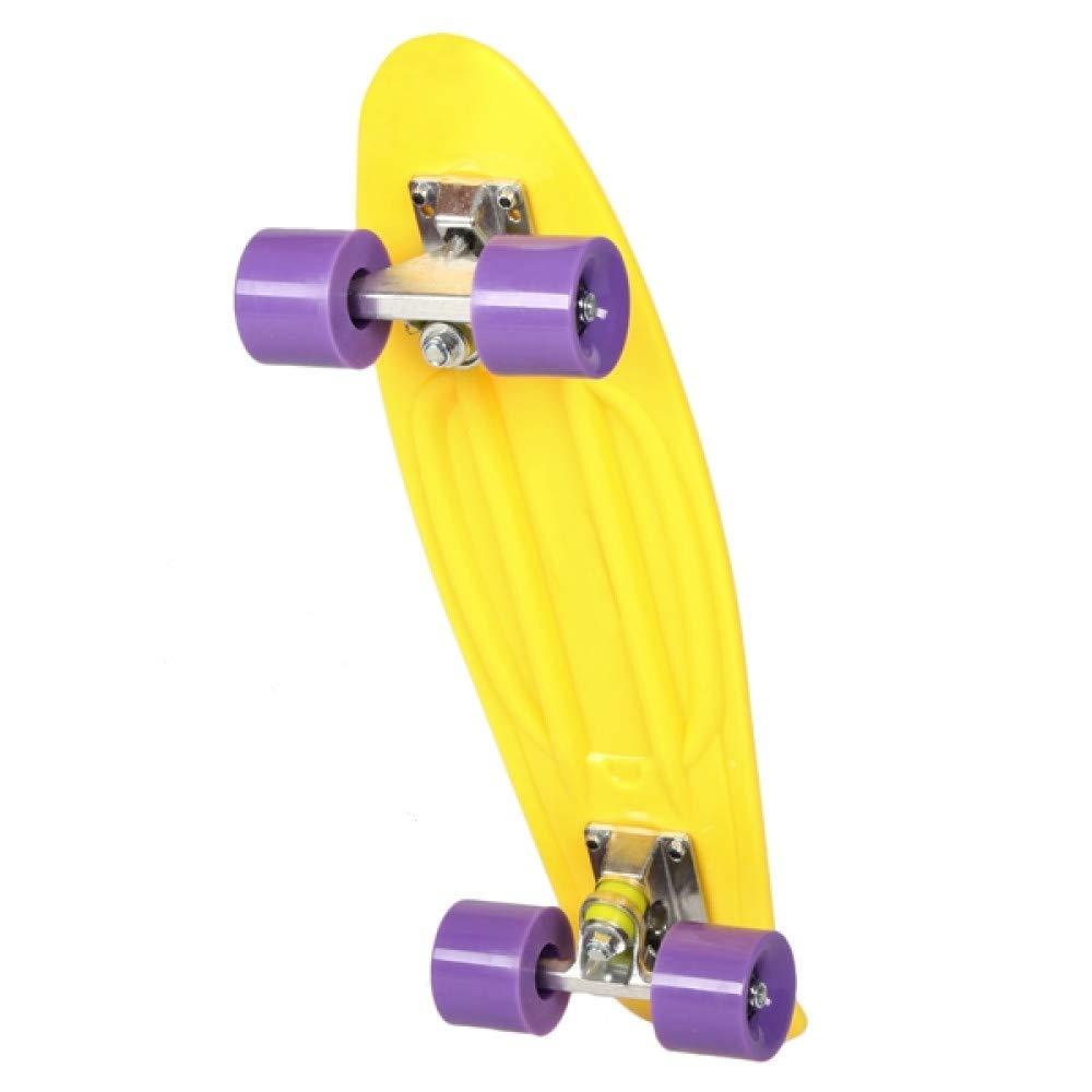 new style ce1e9 d4271 Sakj-b Nuova tavola da Skateboard Skateboard Skateboard a 4 Ruote Longboard  Boy Girl Retro Cruiser Skate Board As Christmas Gift Kids Girl B07KSW9PPF  United ...