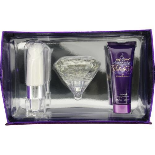 - BABY PHAT FABULOSITY by Kimora Lee Simmons Gift Set for WOMEN: EAU DE PARFUM SPRAY 3.4 OZ & BODY SOUFFLE 2.5 OZ & SHIMMER POWDER WAND .12 OZ & JEWELRY BOX