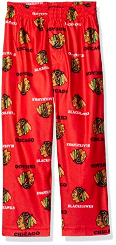 NHL Chicago Blackhawks Toddler Boys Sleepwear All Over Print Pants, Size 4T, Red