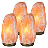(Ship from USA) New Natural HIMALAYAN Home D¨¦cor Unique Healthy Rock Salt Lamp 6~8 Lbs Pack Of 4 /ITEM NO#8Y-IFW81854270442