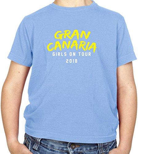 Dressdown Girls On Tour Gran Canaria - Kids T-Shirt - Light Blue - XS(3-4 yrs)