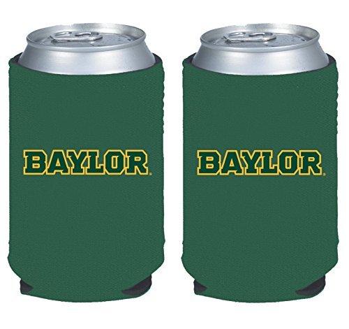 NCAA College 2014 Team Logo Color Can Kaddy Holder Cooler 2-Pack (Baylor Bears)