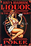 girl beer signs - Uniquelover Whiskey Liquor in the Front Poker Pin up Girl Retro Vintage Tin Sign 12