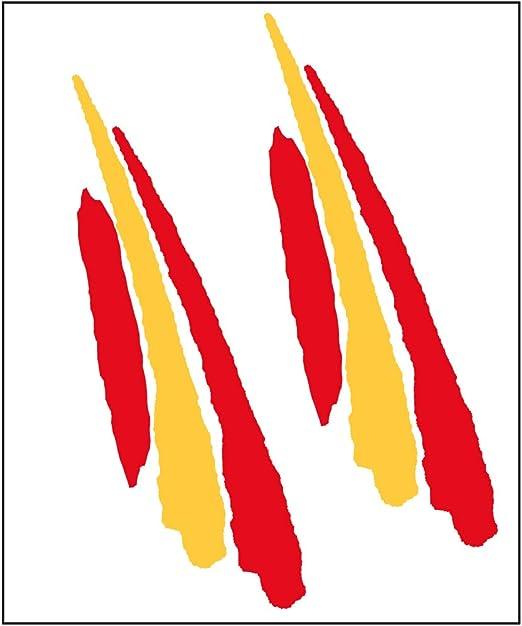 Artimagen Pegatina Bandera Trazo Alargado España 2 uds. 90x25 mm/ud.: Amazon.es: Coche y moto