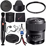 Sigma 35mm f/1.4 DG HSM Art Lens Sony DSLR Cameras # 340205 + Lens Pen Cleaner + Microfiber Cleaning Cloth + Lens Capkeeper + Flexible Tripod Bundle (International Model No Warranty)