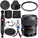Sigma 35mm f/1.4 DG HSM Art Lens Sony DSLR Cameras # 340205 + Lens Pen Cleaner + Microfiber Cleaning Cloth + Lens Capkeeper + Flexible Tripod Bundle (International Model No Warranty)