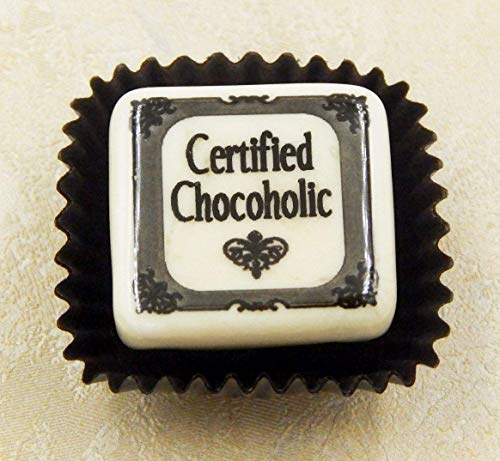 - Handmade Glass 'Certified Chocoholic' Chocolate Candy Gift Home Table Décor Accent Holiday