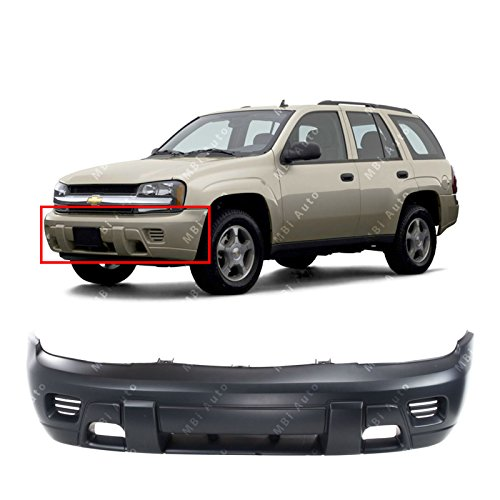 MBI AUTO - Primered, Front Bumper Cover Replacement for 2002-2008 Chevy Trailblazer SUV 02-08, GM1000640