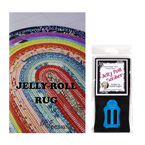 Jelly Roll Bundle: RJ Designs Jelly Roll Rug Pattern and Pauline's Quilters World Jelly Roll Sasher Tool