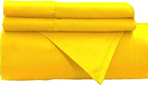 """Empire Home 1800 Persian Collection Soft Brushed Microfiber 4-Piece Sheet Set - 16"""" DEEP Pocket (Yellow, Queen)"""