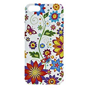 Colorful Flower Pattern Hard Case for iPhone 5/5S