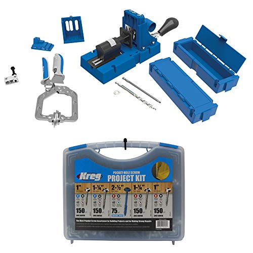 Kreg Jig K5 Master System with Pocket Hole Screw Bundle (5-Sizes)