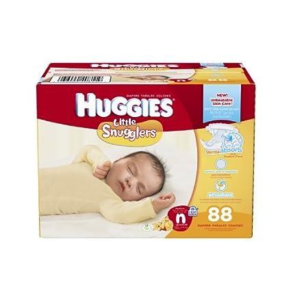 HUGGIES Little snugglers diapers, Newborn, 88 Count (Packaging May ...