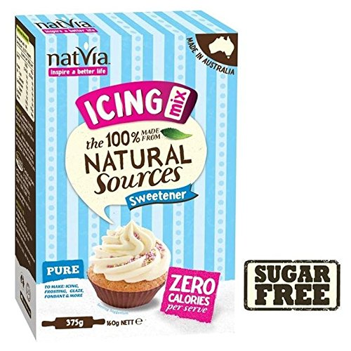 Natvia Sugar Free Natural Sweetener Icing Mix 375g - Pack of 6 by Natvia