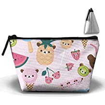 Storage Portable Bag Cosmetic Pouch Ice Cream Pineapple Large Capacity Make Up Purse Medicine Trapezoid Toiletry Bags