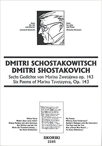 6 Gedichte Von Marina Zwetajewa Op 143 Amazoncouk