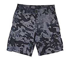 Under Armour Big Boys' UA Scatter Woven Golf Cargo Shorts (Small, Black/ Stealth Grey Camo (001))