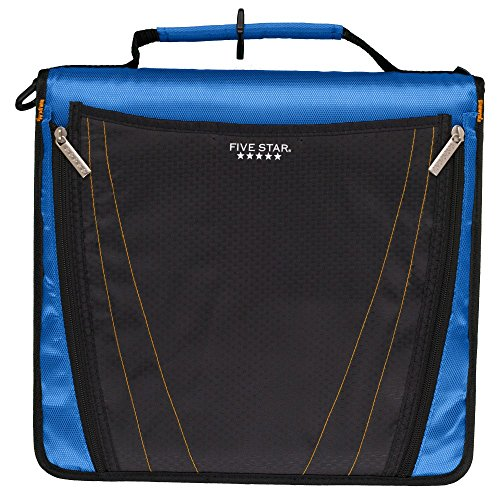 Five Star Zipper Binder, 2 Inch 3 Ring Binder, Expanding Pocket, Durable, Blue (73301)