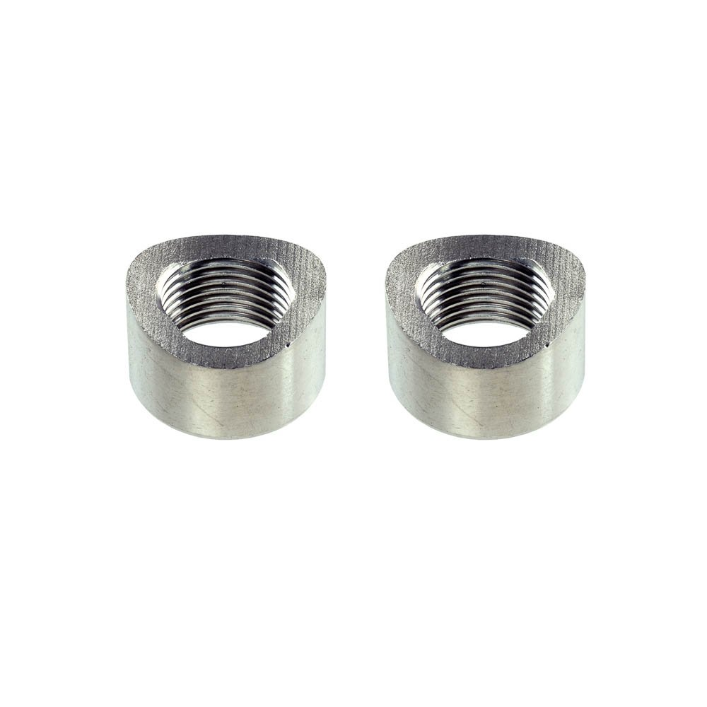 Lipped - 1 Bung, without Plug CarXX O2 Weld Bung Stainless Steel for Oxygen Sensor M18x1.5