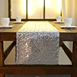 Kitchen Appliance Packages Luxury Luxury Sparkly Sequins Table Runner 30X274cm Silver Wedding Party Event Tablecloth Decoration Supplies