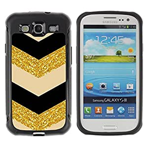 "Pulsar iFace Series Tpu silicona Carcasa Funda Case para Samsung Galaxy S3 III I9300 , Patrón marroquí de Oro Negro Beige"""